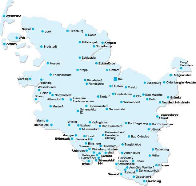 Schleswig Holstein Karte.Ortsvereins Karte Haus Grund Schleswig Holstein